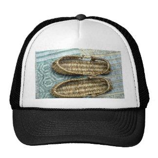 Straw sandals mesh hats