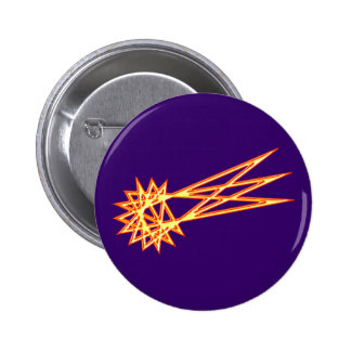Straw star comet straw star comet 6 cm round badge