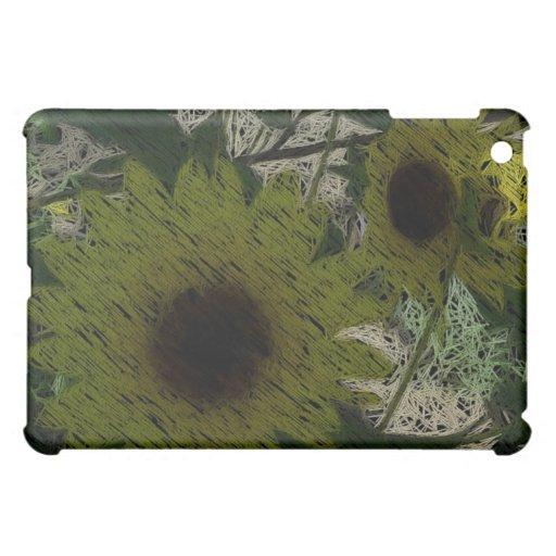 """""""Straw"""" Sunflowers Cover For The iPad Mini"""