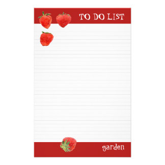 Strawberries 4our To Do List Custom Stationery
