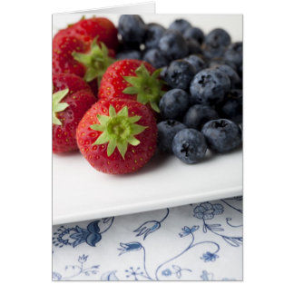 Strawberries and Blueberries Card