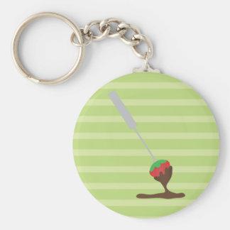 Strawberries and Chocolate Fondue Key Ring