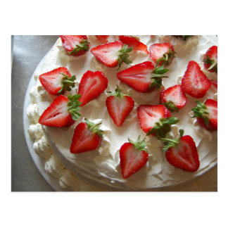 Strawberries and Cream Gateau Postcard