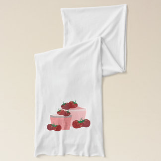 Strawberries And Cupcakes Art Scarf