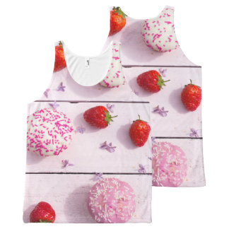 Strawberries and cupcakes print all over All-Over print tank top