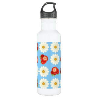 Strawberries and daisies 710 ml water bottle