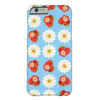 Strawberries and daisies barely there iPhone 6 case