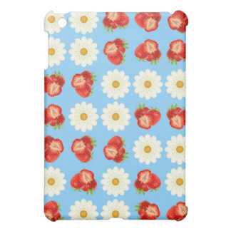 Strawberries and daisies case for the iPad mini