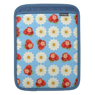 Strawberries and daisies iPad sleeve