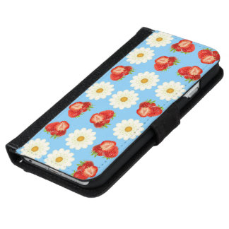 Strawberries and daisies iPhone 6 wallet case