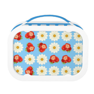 Strawberries and daisies lunch box