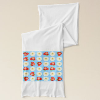 Strawberries and daisies scarf
