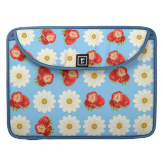 Strawberries and daisies sleeve for MacBook pro