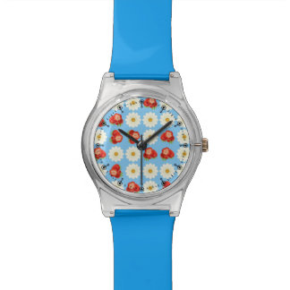 Strawberries and daisies watch