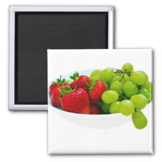 Strawberries And Grapes Refrigerator Magnets