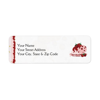 Strawberries And Ice Cream Art Return Address Label