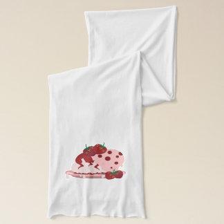 Strawberries And Ice Cream Art Scarf