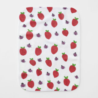 Strawberries and Lady Bugs Fruity Pattern Burp Cloth