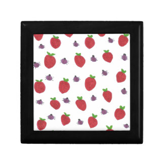 Strawberries and Lady Bugs Fruity Pattern Gift Box