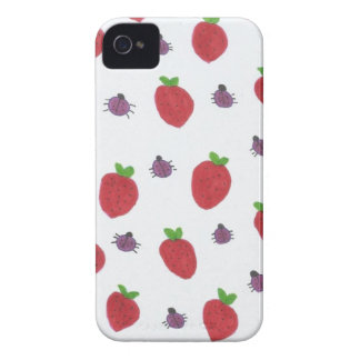 Strawberries and Lady Bugs Fruity Pattern iPhone 4 Case-Mate Cases