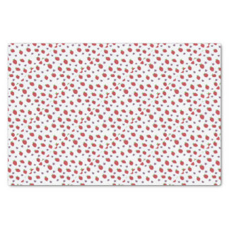 Strawberries and Lady Bugs Fruity Pattern Tissue Paper