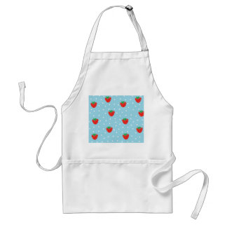 Strawberries and Polka Dots Blue Standard Apron