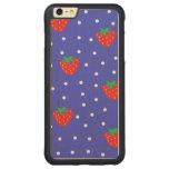 Strawberries and Polka Dots Dark Blue