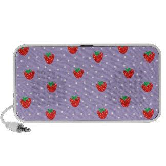 Strawberries and Polka Dots Purple Notebook Speaker