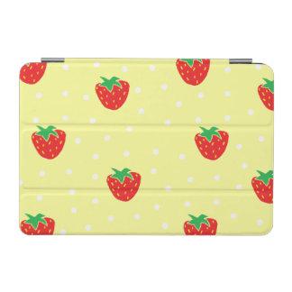 Strawberries and Polka Dots Yellow iPad Mini Cover