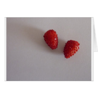 Strawberries as heart greeting cards