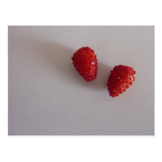 Strawberries as heart post card