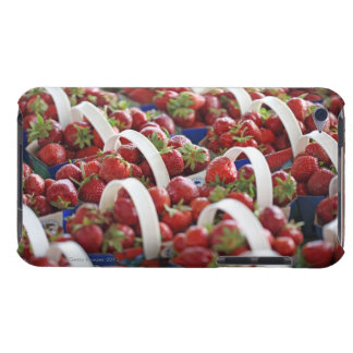 Strawberries at a market stall barely there iPod covers