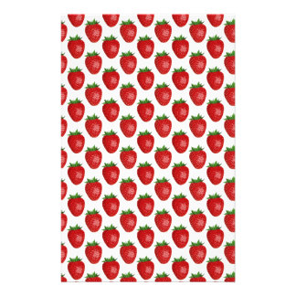 Strawberries background stationery paper
