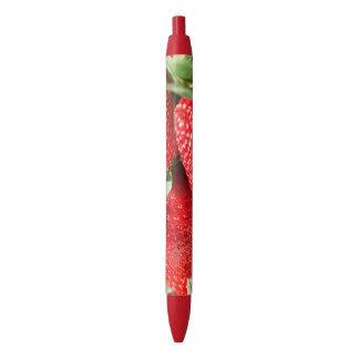 Strawberries Black Ink Pen