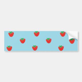 Strawberries Blue Bumper Sticker