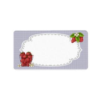 Strawberries Canning Label Address Label