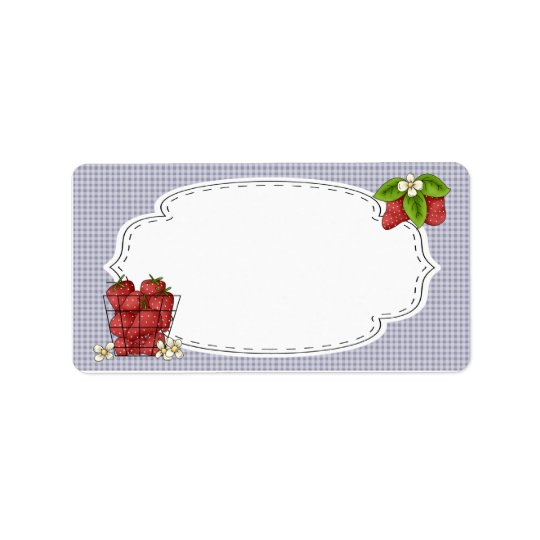 Strawberries Canning Label Address Label