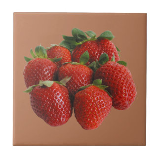 Strawberries Ceramic Tile