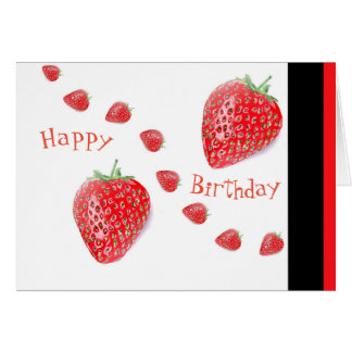 Strawberries Custom Birthday Greeting Card