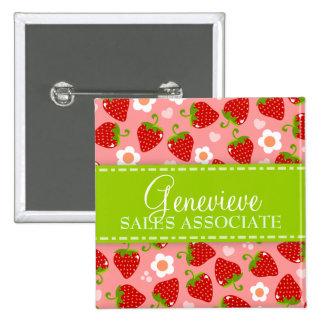 Strawberries Custom Name Badge