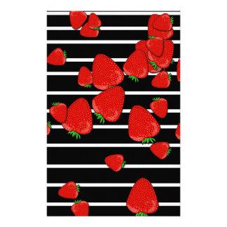 Strawberries Custom Stationery
