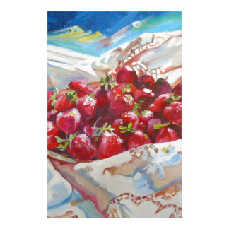 Strawberries Customized Stationery