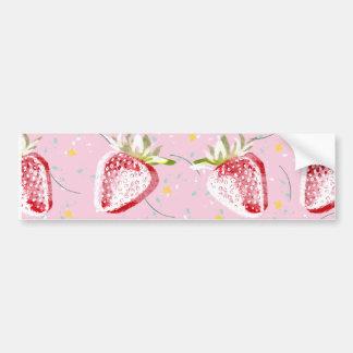 Strawberries Fiesta Pattern Bumper Sticker
