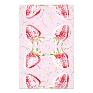 Strawberries Fiesta Pattern Stationery