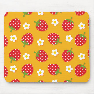 Strawberries & Flowers Mouse Pads