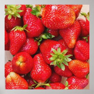 Strawberries / Foodie kitchen poster