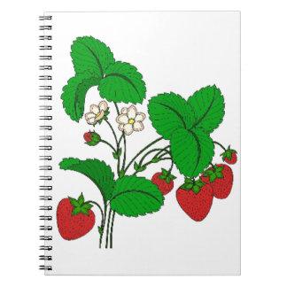 Strawberries for Breakfast Spiral Notebook