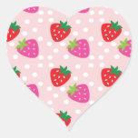 Strawberries Heart Sticker