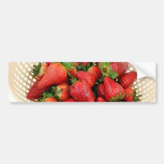 Strawberries in a Beige Colander Close Up Bumper Sticker