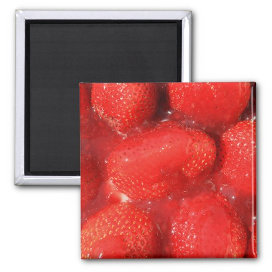Strawberries in Jelly Magnet